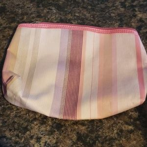 8 inch by 3 inch Lancome makeup bag